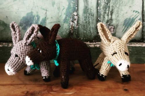 Knitted donkeys