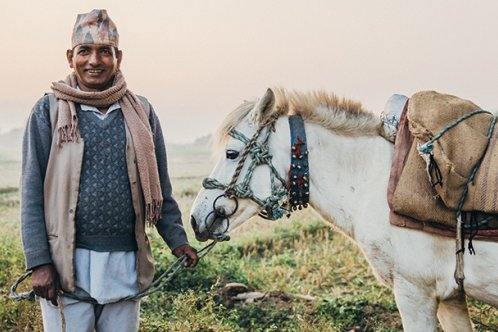 Nepalese horse owner