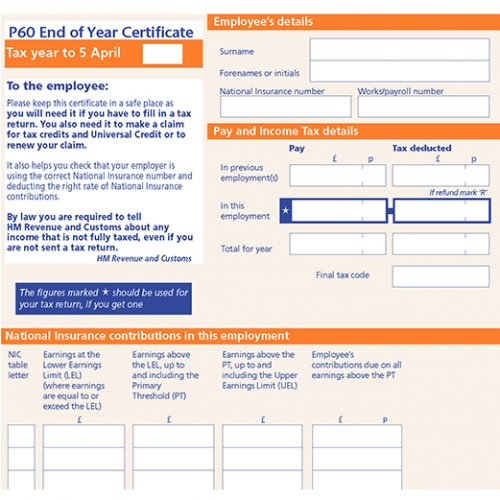 A P60 form