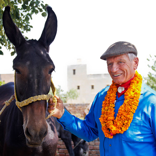 Monty Roberts in India with Brooke
