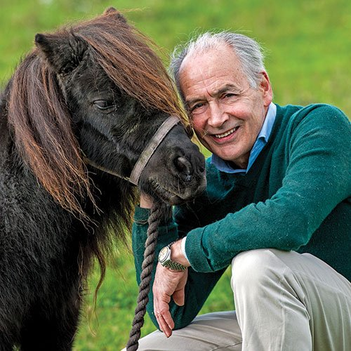 Alastair Stewart and a pony