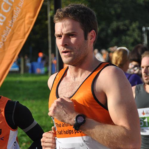 A Brooke runner at the Royal Parks Half Marathon