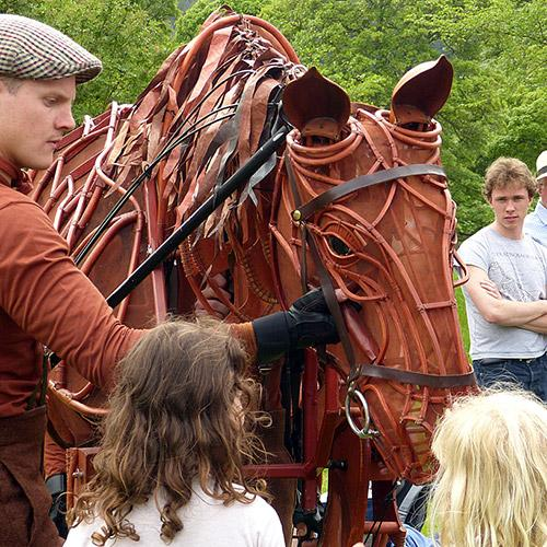 War Horse at a Brooke supporters' fundraising event