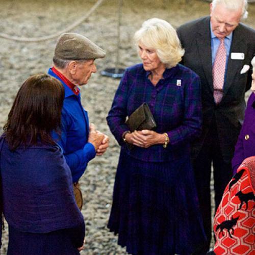 HRH the Duchess of Cornwall meeting Monty Roberts