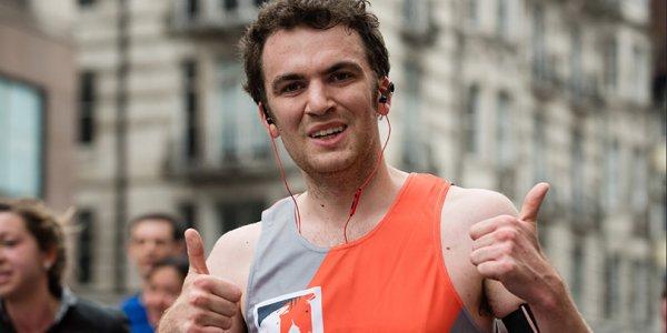 A Brooke runner at the ASICS Greater Manchester marathon