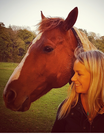 Kate Fletcher with her horse