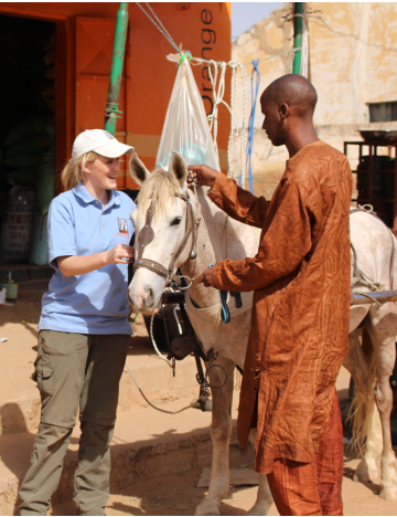 Ashleigh Brown and a horse