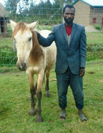 Ahmed and his horse, Bora