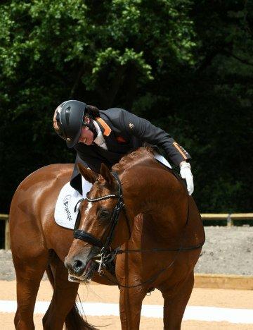 Alice Oppenheimer and her horse