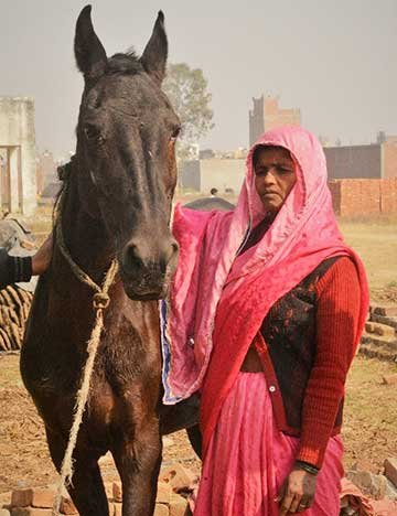Bhagwait with her horse