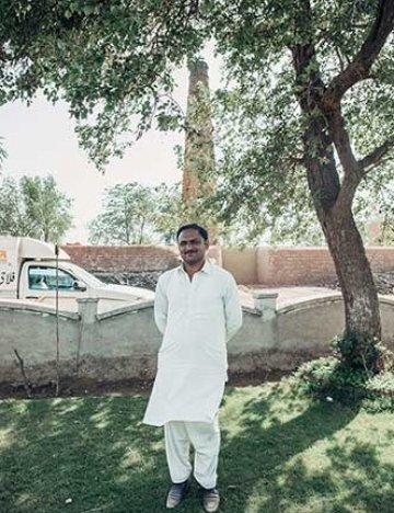 Rana Rashide in the new garden
