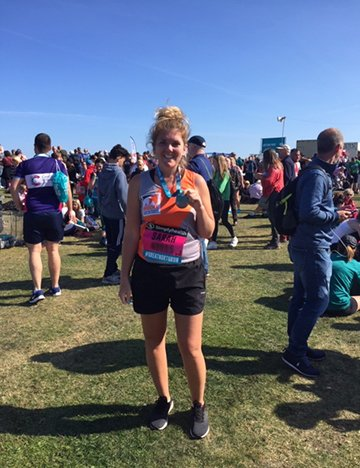 A runner for Brooke at the Great North Run